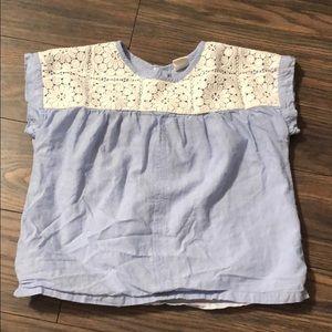Gap chambray and lace shirt